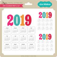2019 Calendar Print & Cut