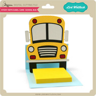 Sticky Note Easel Card School Bus