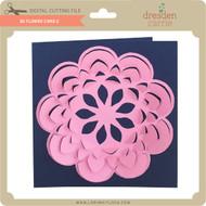3D Flower Card 2
