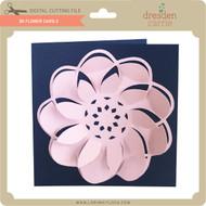 3D Flower Card 3