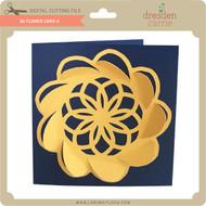 3D Flower Card 4