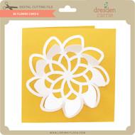 3D Flower Card 6
