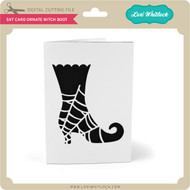 5x7 Card Ornate Witch Boot