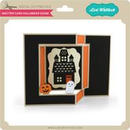 Shutter Card Halloween Scene