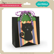 2 on 12x12 Tag Bag Black Cat