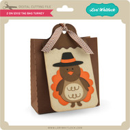 2 on 12x12 Tag Bag Turkey