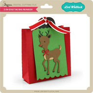 2 on 12x12 Tag Bag Reindeer