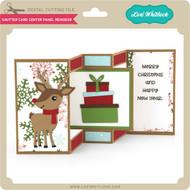 Shutter Card Center Panel Reindeer