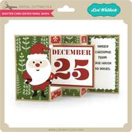 Shutter Card Center Panel Santa