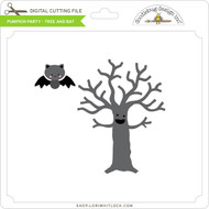 Pumpkin Party - Tree and Bat
