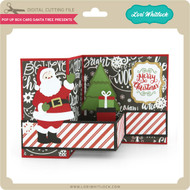 Pop Up Box Card Santa Tree Presents