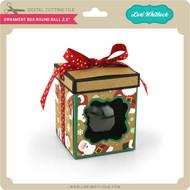 Ornament Box Round Ball 2.5