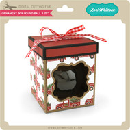 Ornament Box Round Ball 3.25