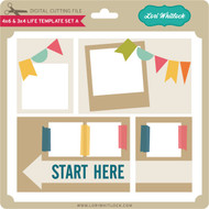 4x6 and 3x4 Life Template Set A