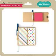 Sticky Note & Pen Holder