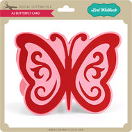 A2 Butterfly Shaped Card