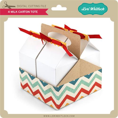 4 Milk Carton Tote - Lori Whitlock\'s SVG Shop