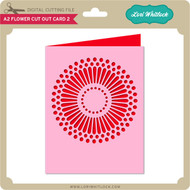 A2 Flower Cut Out Card 2