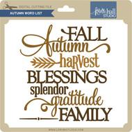 Autumn Word List