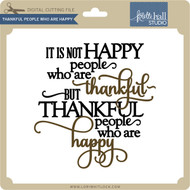 Thankful People Who Are Happy