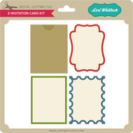 3 Invitation Card Kit