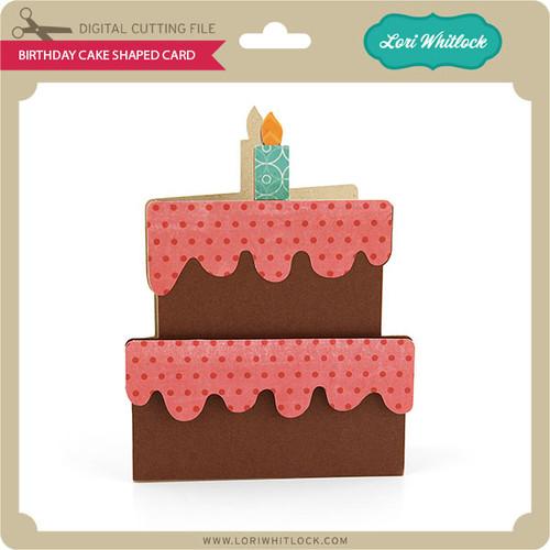 Birthday Cake Shaped Card
