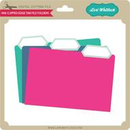 4x6 Clipped Edge File Folders