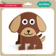 Dog Shaped Card
