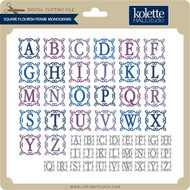 Square Flourish Frame Monograms