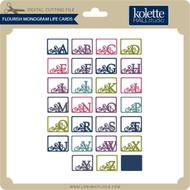 Flourish Monogram Life Cards