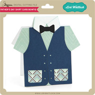 Father's Day Shirt Card Bowtie