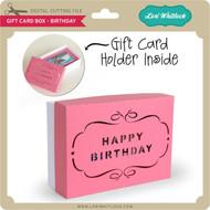 Gift Card Box - Birthday