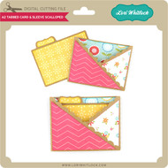 A2 Tabbed Card & Sleeve Scalloped
