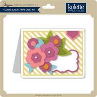 Floral Burst Stripe Card Kit