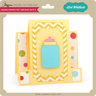 Square Center Step Card Baby Bottle
