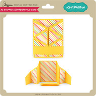 A2 Stepped Accordion Fold Card
