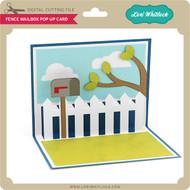 Fence Mailbox Pop Up Card