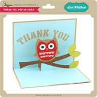Thank You Owl Pop Up Card