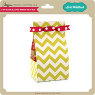 2 on 12x12 Scalloped Ribbon Treat Box