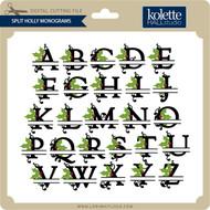Split Holly Monograms