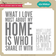 What I Love About My Home