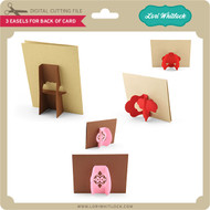 3 Easels For Back of Card
