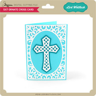 5x7 Ornate Cross Card