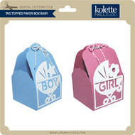 Tag Topped Favor Box Baby