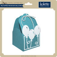 Tag Topped Favor Box Balloons