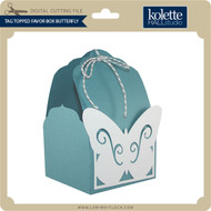 Tag Topped Favor Box Butterfly