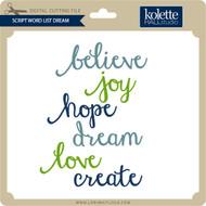 Script Word List Dream