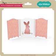 Tri-Fold Shadow Box Card Bunny