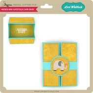 Hidden Box Gatefold Card Baby