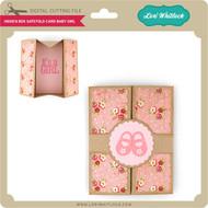 Hidden Box Gatefold Card Baby Girl